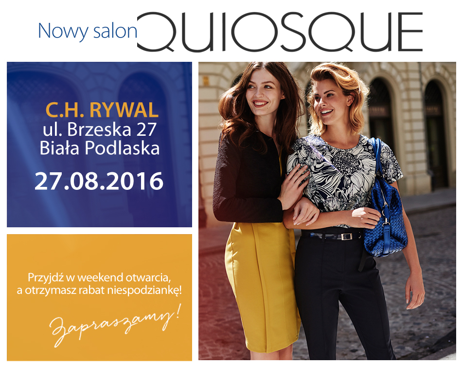 QUIOSQUE już wkrótce w CH RYWAL!  Centrum Handlowe Rywal -> Kuchnia Orientalna Biala Podlaska Brzeska