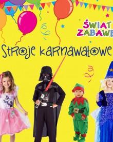 Kolorowe stroje karnawałowe w ŚWIECIE ZABAWEK!