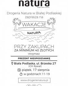 DROGERIA NATURA Wakacje z Naturą!