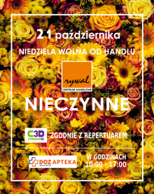 NIEDZIELA WOLNA OD HANDLU 21 października 2018 r.