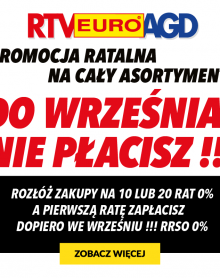 RTV EURO AGD – Do września nie płacisz
