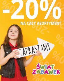 ŚWIAT ZABAWEK – 20 % na cały asortyment